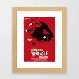 An American Werewolf (Red Collection) Framed Art Print