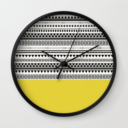AZTEC AND CHARTREUSE Wall Clock