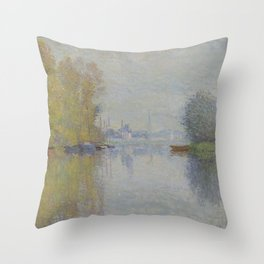 Autumn on the Seine, Argenteuil Throw Pillow