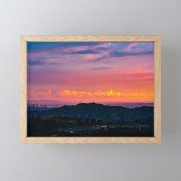 Los Angeles Sunset Framed Mini Art Print
