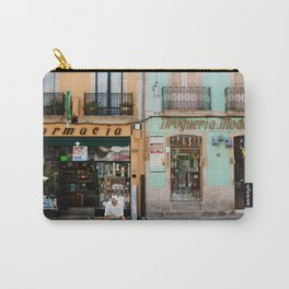 Colorful shopfronts in Galicia, Spain. | Travel photography for fine art photography print.  Carry-All Pouch