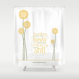 David Foster Wallace on Bees  Shower Curtain