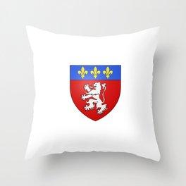 flag of Lyon Throw Pillow