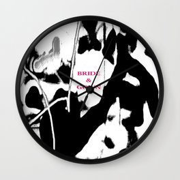 BRIDE & GOWN - B&W NOTE - DESIGN #2 Wall Clock