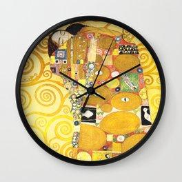 """Gustav Klimt """"Fulfillment"""" Wall Clock"""