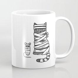 Mummy Cat & Mummy Mouse – Silent Horror Coffee Mug