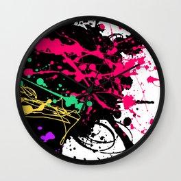 Funky splatter Wall Clock