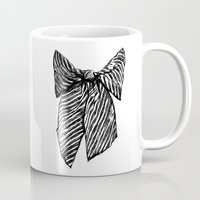 bow Mugs featuring Bow by Samantha Turnbull