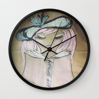 art history Wall Clocks featuring Pink Ladies: Art History by Amy Burvall