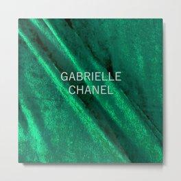 coco gabrielle green velvet edition Metal Print