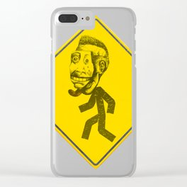 Mask man crossing Clear iPhone Case