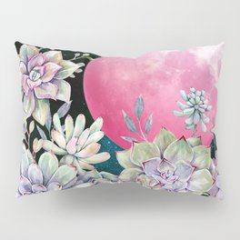 succulent full moon 3 Pillow Sham