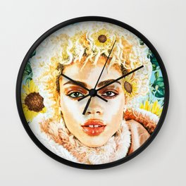 Miss Sunflower Wall Clock