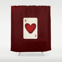 ace Shower Curtains featuring Ace by Anne Seltmann