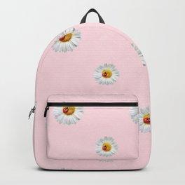 Flower Flowers Daisies in love - pink floral pattern Backpack