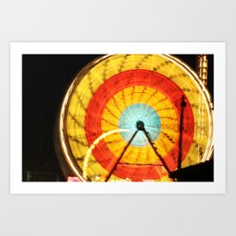 Wheel of light Art Print