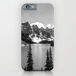 Lake Moraine Black and White Landscape Photography iPhone Case