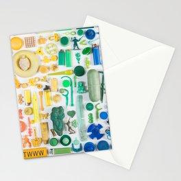 Gradient Beach Trash Stationery Cards