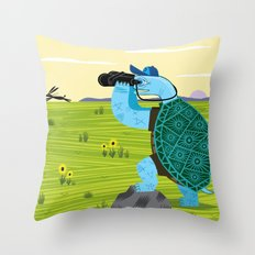 The Tortoise and The Hare Throw Pillow