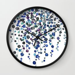 colorful string of beads Wall Clock