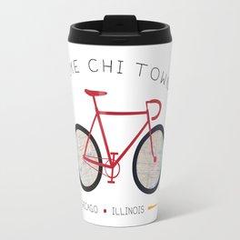 Chicago, Illinois by I Bike Travel Mug