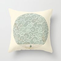 map Throw Pillows featuring Map by Tanya Tish
