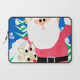 Santa and Rudolph Laptop Sleeve
