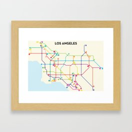 Los Angeles Freeway System Framed Art Print