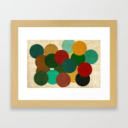 bubbles on fabric pattern Framed Art Print