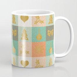 Christmas Checks Pattern Coffee Mug