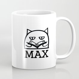 Max can read. Coffee Mug