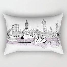 Glasgow City Skyline Rectangular Pillow