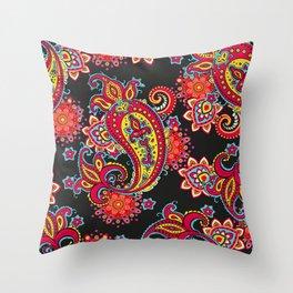 paisley exotique Throw Pillow