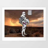 trooper Art Prints featuring trooper by Bern