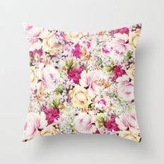carpet of roses Throw Pillow