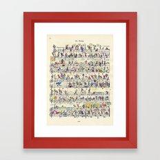 etude 65 Framed Art Print