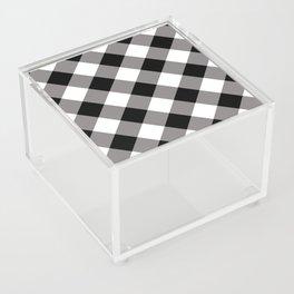 Gingham - Black Acrylic Box