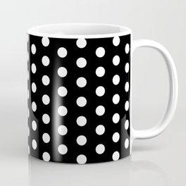 Black White Polka Dots Coffee Mug