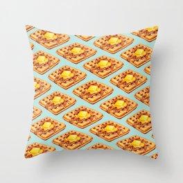 Waffle Pattern Deko-Kissen