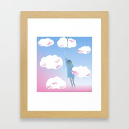 Girl in the Clouds Framed Art Print