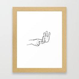 In hoc signo vinces (con este signo venceras) Framed Art Print