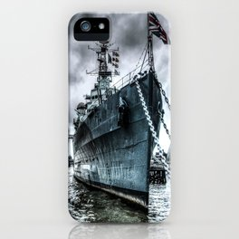 HMS Belfast at Rest iPhone Case