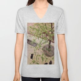 """Gustave Caillebotte """"The Boulevard Viewed from Above"""" Unisex V-Neck"""