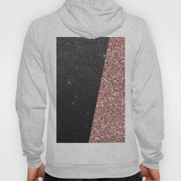 Abstract black rose gold geometrical glitter Hoody