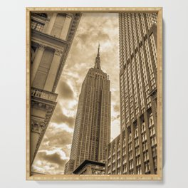 Golden Empire State Building Serving Tray