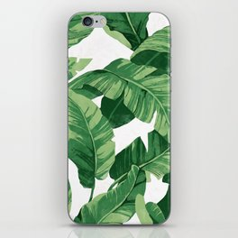 Tropical banana leaves IV iPhone Skin