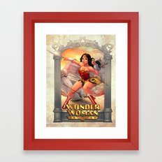 Fan Art - Woman of Wonder Framed Art Print