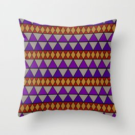 Tricky Triangles Throw Pillow