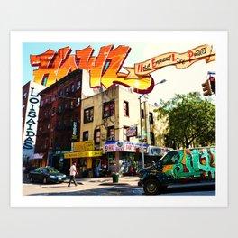 Living in Loisaida - New York Art Print