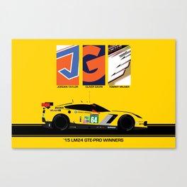 Corvette Wins Le Mans - 2015 Canvas Print